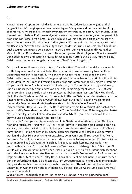 (Microsoft Word - Geb344rmutter Schwitzh374tte _Auszug_)